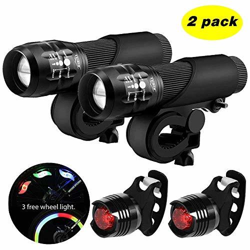 Blikle Blinkle Bike Light Set LED Light with Zoomable Function 3 Modes 3 Aaa Batteries.