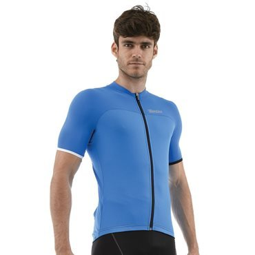 Santini Tempo Short Sleeve Jersey - Blue, White, Red and Black
