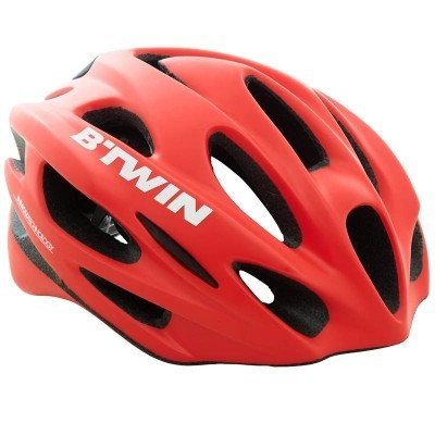 B'twin Road R 500 Cycling Helmet Red - Also available in White. (Spend a penny more and get FREE Postage)