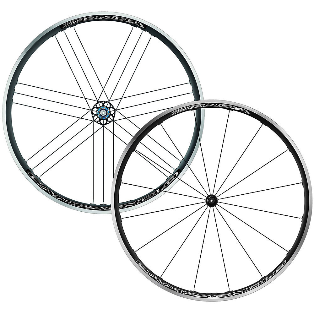 Campagnolo Zonda C17 Road Clincher Wheelset - Black - Campag Freehub, Black