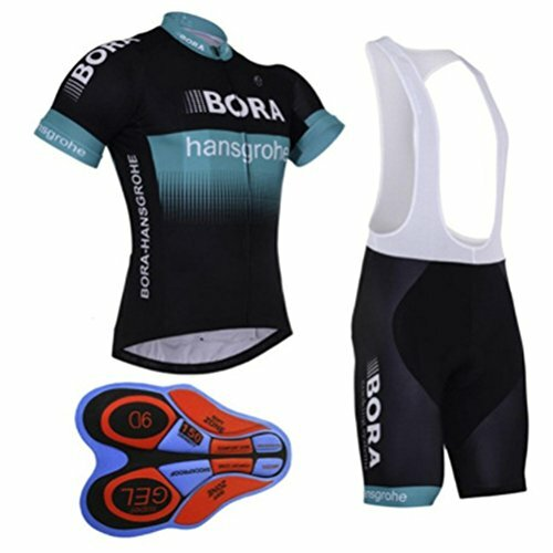 Aobeau Pro Team Cycling Jersey &  Bib Shorts BORA Print -  Blue&Black (other colours available) FREE Delivery 1 to 3 weeks