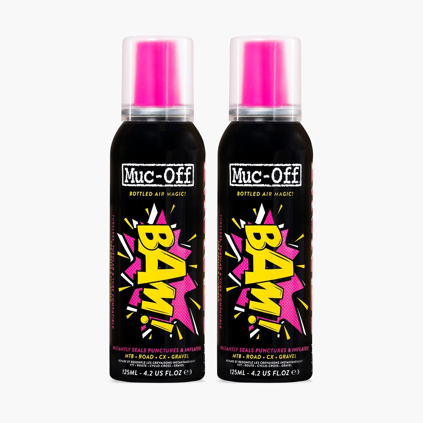 Muc-Off B.A.M! Instant Puncture Repair (Two for £20) - Also extra 15% off Price below for first order. Spend £25 for FREE Postage.