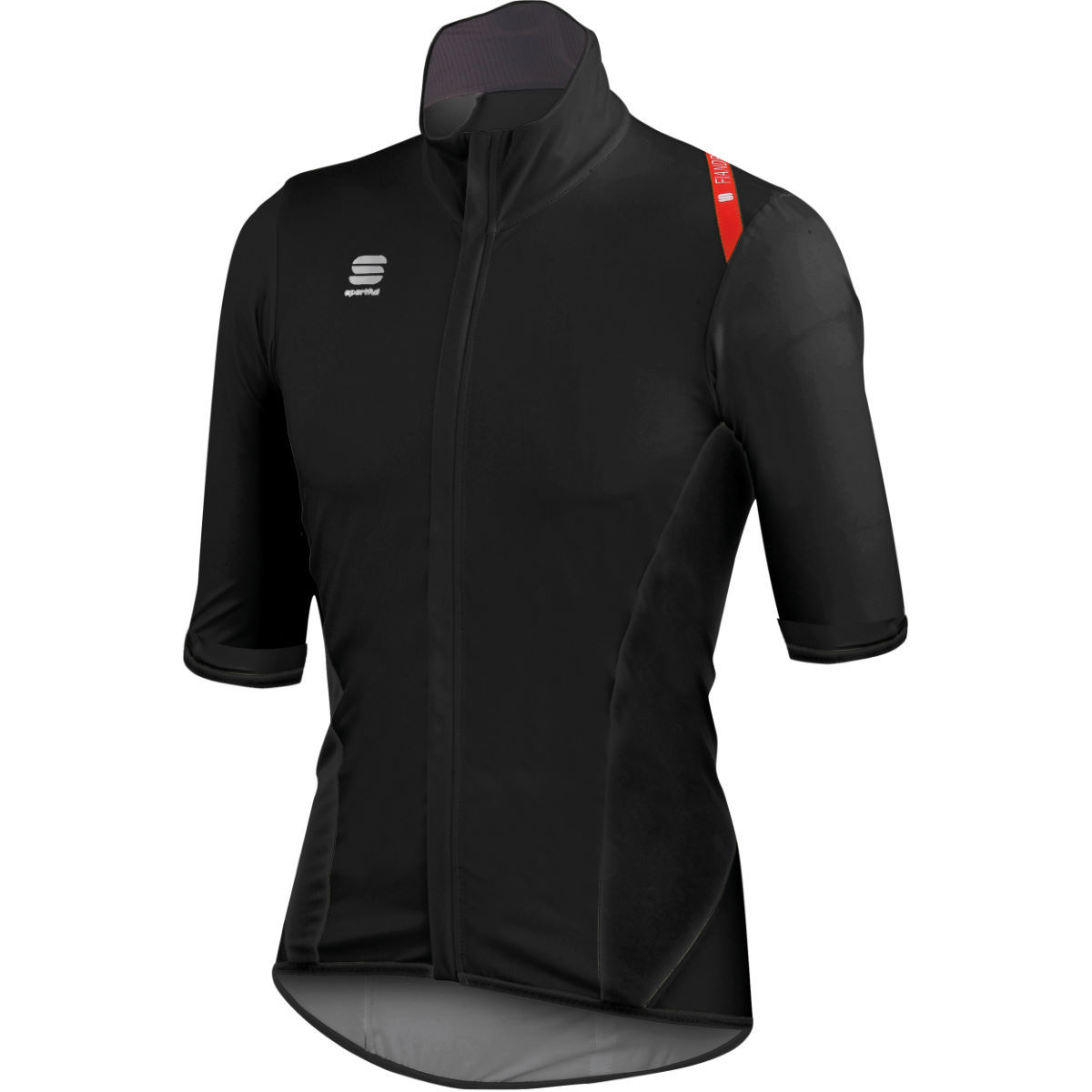 Sportful Fiandre Light NoRain Short Sleeve Jersey - Clearance Red/Black XLarge only.