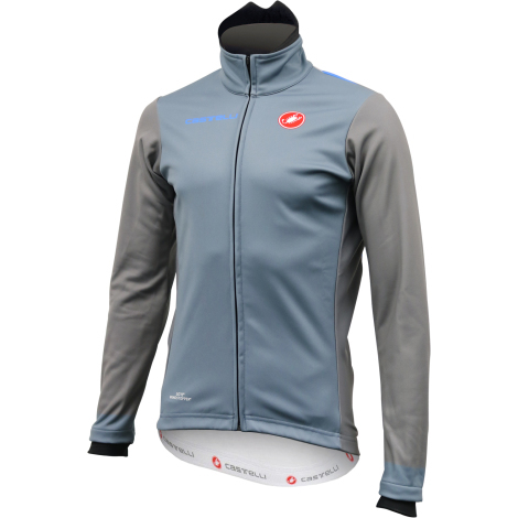 Clearance Castelli Classic Winter WS Cycling Jacket - Mirage / Grey / Drive Blue