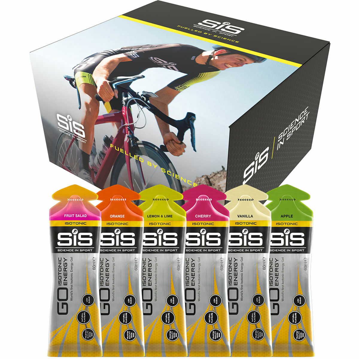 Science in Sport GO Isotonic Energy Gel Mixed Pack 30x60ml   Gels