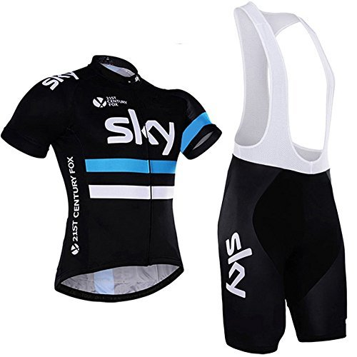 Aobeau Pro Team Cycling Jersey & Bib Shorts Set SKY Print - All sizes available, price varies. (FREE Delivery)