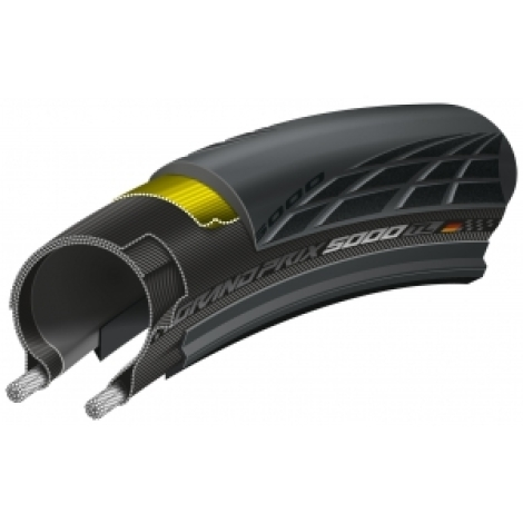 Continental GP5000 Tubeless Folding Road Tyre 700c - Black / 700c / 25/28/32mm - Reduced again.