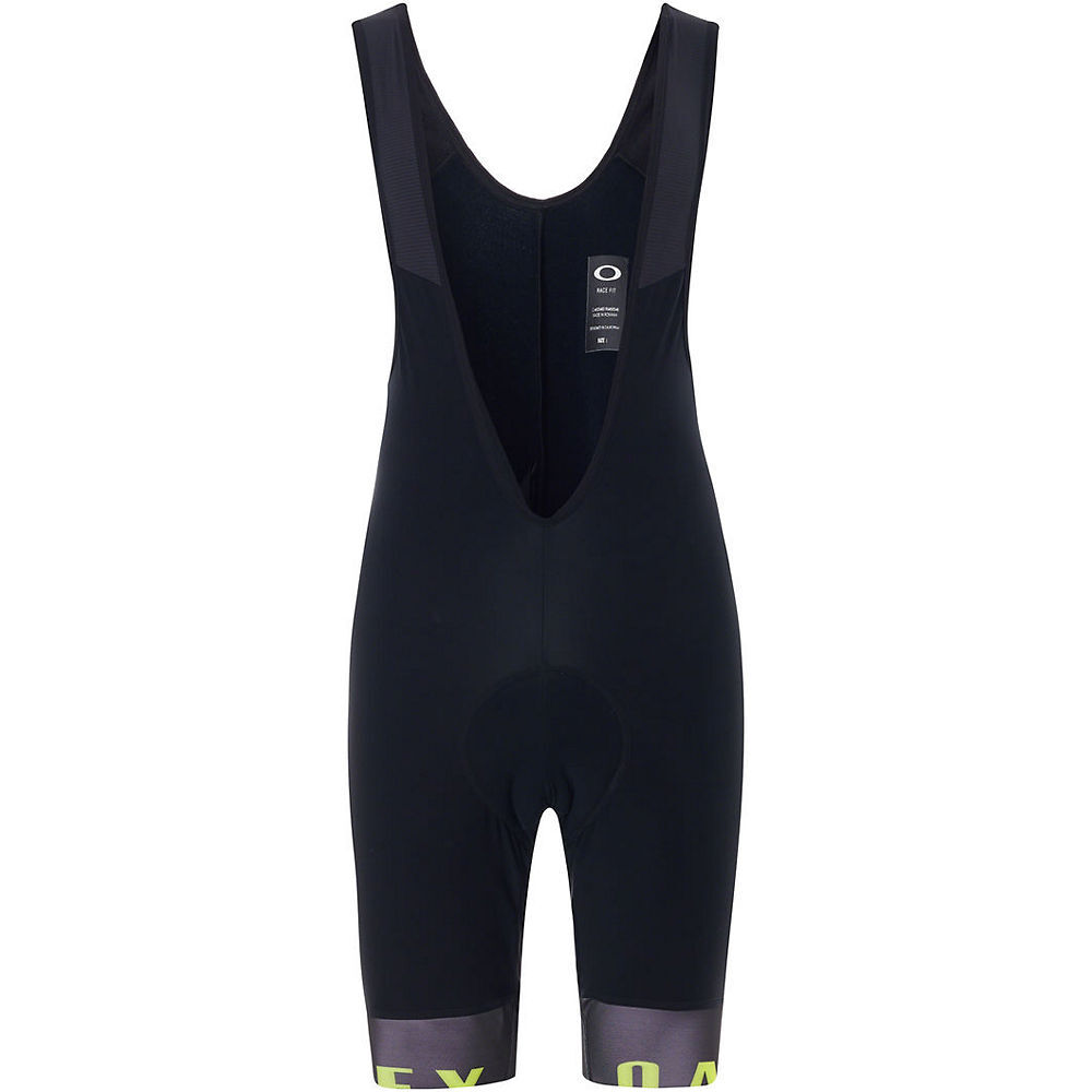 Oakley Thermal Bib Shorts 2018 Blackout-Hi-Vis Yellow - Large sizes only to clear.