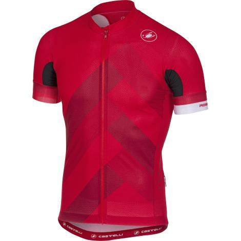 Castelli Free AR 4.1 FZ Short Sleeve Cycling Jersey - SS18 - Red / XLarge