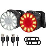 Leynatic LED Bike Lights Set, USB Rechargeable Super Bright 6 Light Mode Options Waterproof - Front and Rear.