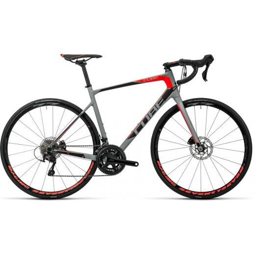 Cube Attain GTC Pro Disc Racing Road Bike 2016 Grey/Red