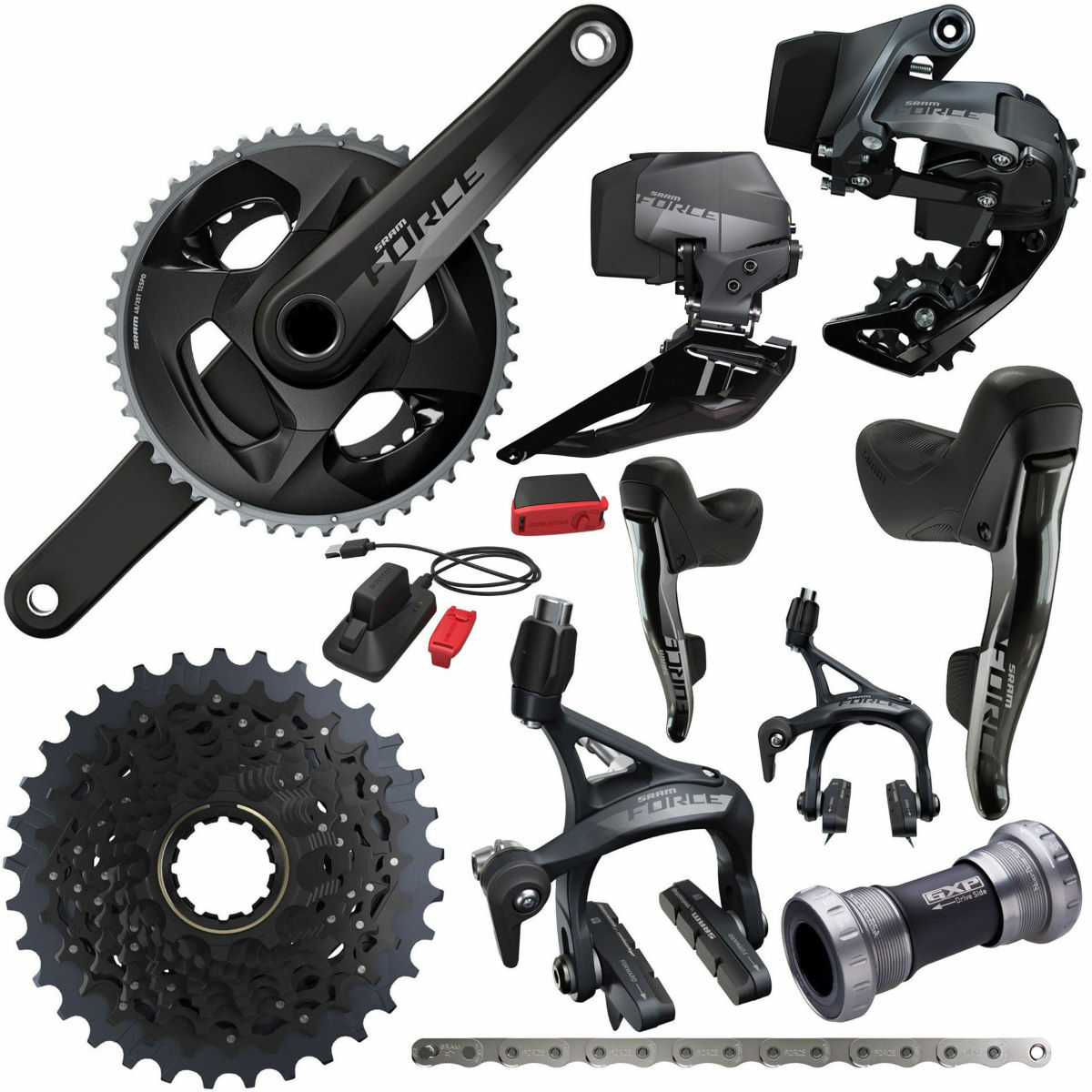 SRAM Force eTap AXS 2x12Sp Complete Road Groupset   Groupsets
