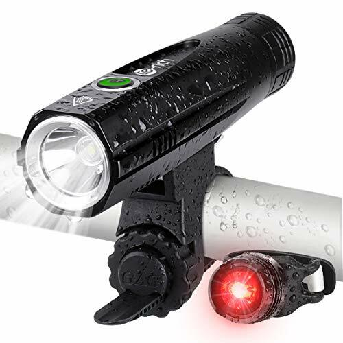 Te-Rich Bike Lights, USB Rechargeable Front Bicycle Light and LED Rear Bike Light Set, Super Bright Flashlight Cycle Lights for
