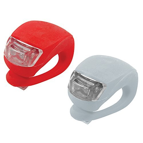 Silverline 752082 Clip-On LED Bike Lights - Pack of 2 (Red & White/Front & Rear) Batterys Included & FREE postage.